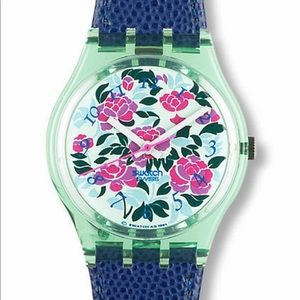 1992 Vintage Swatch Watch Mazzolino GG115 Floral